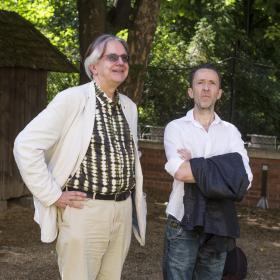 Matthias Meyer und Kim Fupz Aakeson. (Foto Mario Habenbacher)