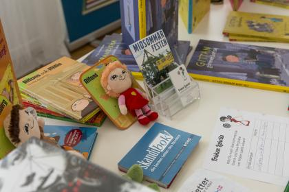 Skandibok Büchertisch. (Foto Mario Habenbacher)