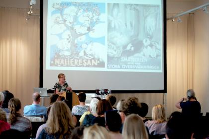 Mia Österlunds Presentation. Photo by Skandibok.at